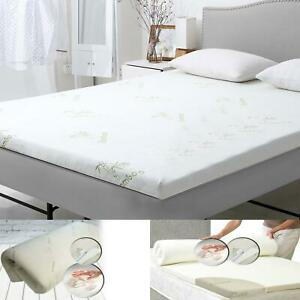 1 2 Inch Bamboo Memory Foam Bed Mattress Topper Soft Thick Pad