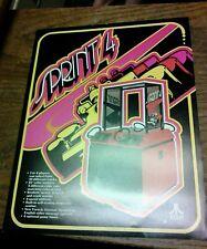 Atari SPRINT 4 Arcade Video Game flyer- original
