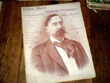 oeuvres posthumes de Paul Delmet 10 mélodies piano chant Album Musical n°43