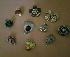 Assorted Sterling Single Earrings 33g. Lot of 11 Antique or Vintage