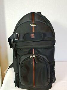 "TARGUS CAMERA CAMCORDER SLING BAG BACKPACK BLACK MEDIUM 18"" NEW WITHOUT TAGS"
