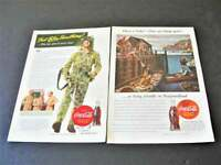 1943/44 Coca-Cola Have a Coke. Drink Coca-Cola- Set of (2) Magazine Page Prints.