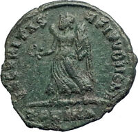 VALENS 367AD Rome R.PRIMA Rare Authentic Ancient Roman Coin Victory Angel i74202