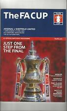 Arsenal v Sheffield United FA Cup Semi Final Football Programme 2003