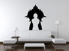 Wall Vinyl Sticker Decal Anime Manga FMA Fullmetal Alchimist Logo Silhouet VY346