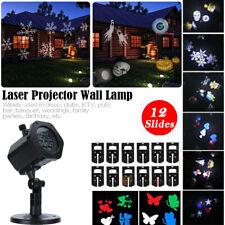 Christmas Landscape Lights Projector LED Spotlight Waterproof 12 Pattern Motion