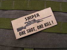 SNAKE PATCH - SNIPER one shot one kill M24 - SABLE - FANTAISIE tir GHILLIE US
