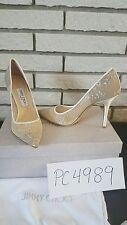NWT 750$ Jimmy Choo ABEL lace heels pumps size 38.5 US 8 8.5 receipt