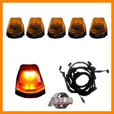 Amber Lens AMBER LED Cab roof lights 5pc 17-18 Ford F250 F350 super duty Wiring