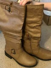 NWB  sz 8 1/2 Journey Collection Stormy tan boots w/ buckles