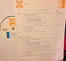 RADIO SHOW:TODAY 66 3/5/87 TURTLES, STONES, 4 SEASONS, BOB LIND,HERMAN'S HERMITS
