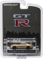 GREENLIGHT 2016 NISSAN GT-R (R35) GOLD GT-R 45TH ANNIVERSARY 1/64 CAR 27850 F