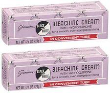 (2- Pack) Genuine Black & White Bleaching Cream 3/4 oz.