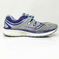 Saucony Womens Hurricane ISO 4 S10411-1 Gray Blue Running Shoes Lace Up Size 9.5