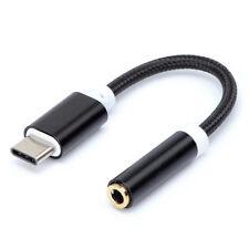 USB-C Type C Mâle vers Audio Mini-Jack 3,5mm Femelle Adaptateur Connecteur BK