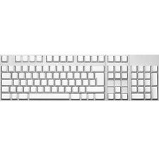 Max Keyboard ISO 105-key Cherry MX Replacement Keycap Set 6.0x (White / Blank)