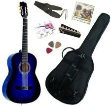 Pack Guitare Classique 1/2 Pour Gaucher (6-9ans) Avec 6 Accessoires (bleu)