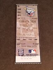 TICKET STUB JULY 6 2004 MINNESOTA TWINS VS  KANSAS CITY ROYALS EXCELLENT COND.