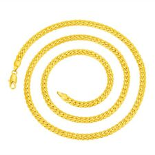 Men 18KGP Stamped Gold Plated Italy Herringbone Chain Necklace 5mm*60cm