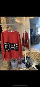 Mens Reebok Classics International Red Button Sweatshirt