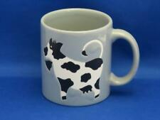 Vtg Waechtersbach Black & White Cow Coffee Mug Gray West Germany New Rare
