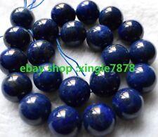 "Natural 8mm Blue Lapis Lazuli Round Gemstones Loose Beads 15""AAA++"