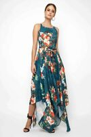 LACE & BEADS Cosmos Green Floral Maxi Dress   UK 12   US 8   EUR 40   (TS126-18)