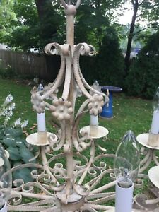 Vintage Curly White Chandelier