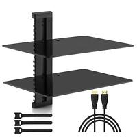 9Two Floating Shelf TV Stand Wall Mount Console Entertainment Media DVD Streamer