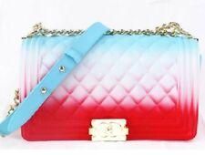 Color Handbags Ladies Shoulder Bag PVC Fashion Handbags Color Matte Jelly