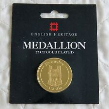 Helmsley Castle 22 ct Gold Plated Proof 38 mm medal-Sealed Pack