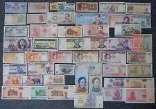 50 verschiedene BANKNOTEN alle Welt - SAMMLUNG, MIT BESSEREN wie etwa ZIMBABWE