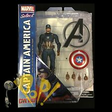 Marvel Select CIVIL WAR Captain America 3 Action Figure SOLD OUT Diamond Select!