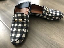Coach leather + Fabric collapsible-heel loafer Size Eur 41.5 US 8.5 Men Brixton