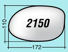 Vetro specchietto Chrysler destro cromato curvo 2150D