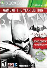 Batman Arkham City Game of the Year Edition ~ Xbox 360 ~ Brand New and Sealed