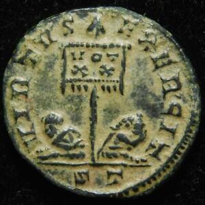 Licinius I AE3 centenionalis VIRTVS EXERCIT, Ticinum 319-320AD, RIC 116, rare R3