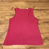 By Chico's Women's Pink Sleeveless Tank Top V-Neck Size 2  (Large) ~ *WOW*