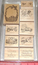 Christmas Easter Thanksgivings Stamp Set Holiday Stampin Up Basket of Happiness