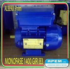 MOTORE ELETTRICO MONOFASE CV.0,12 KW.0,09 1400G/MIN MEC 56 B3 ALBERO 9mm NUOVO!!