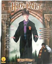 NEW HARRY POTTER RON WEASLY COSTUME CAPE WITH CLASPS BOYS HALLOWEEN M 5-7 Years