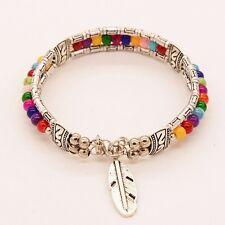 Fashion Jewelry Ethnic Tibetan Silver Turquoise Bracelet Feather Bracelet Pop