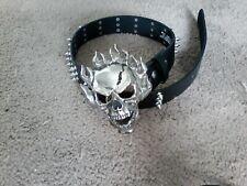 Hot Topic Spiked Belt and Demonic Buckle Black Metal Gear Dimmu Borgir Marduk