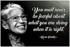 Rosa Parks Quote Poster Classroom Posters Picture Black Art Civil Rights BLM