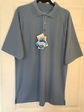 Extreme brand E-Performance Odor Free Moisture-wicking Polo Shirt Large Blue NWT