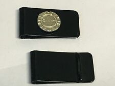Poker Chip TG254 Fine English Pewter on a Money Clip Black