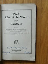 1923 Atlas of the World and Gazetteer-Funk & Wagnalls-1920 US Census Figures