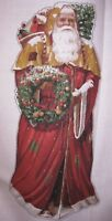 Daisy Kingdom Giant Vintage Santa #1122 Door Panel Wall Hanging Christmas Claus