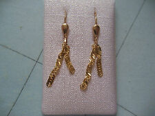 Ohrhänger Gold 585 feine Ketten frei hängend,Damen Ohrhänger Gold 585 mit Ketten