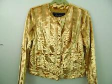 Terry Lewis Faux Fur Evening Jacket XS 37 Bust NWOT Dressy Gold Animal Glamour